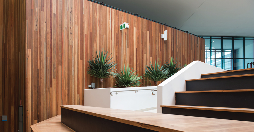 image of spotted gum cladding