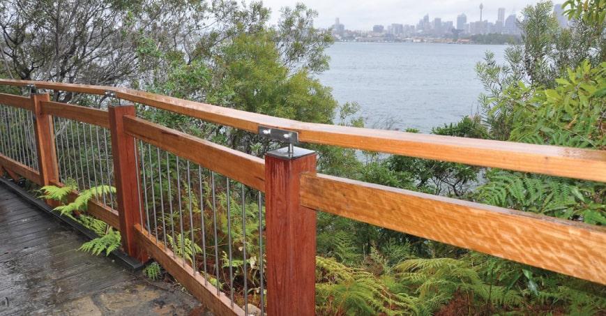 Image of Iron Bark railing at Bradley's Head