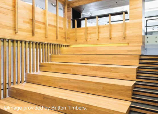 Image of a timber decking project by Briton Timbers