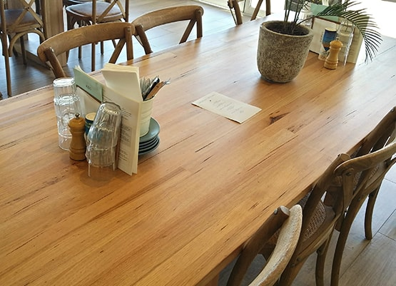 Image of Vic Ash timber benchtops at Goose Bar, Busselton